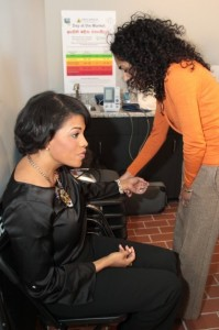 Blood pressure demonstration with Mayor Rawlings-Blake