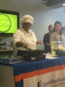 Cooking presentation by Chef Gayle Owens