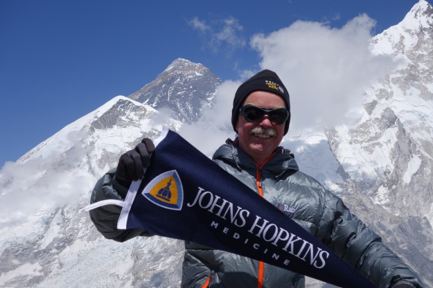 Theodore DeWeese on Mount Everest