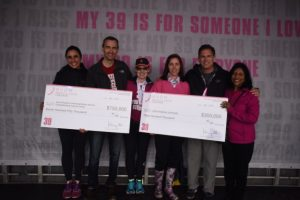 Breast Cancer Program members Josh Lauring and Sara Sukumar accept Avon Foundation awards