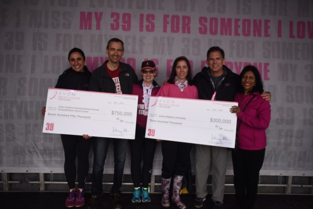 Breast Cancer Program members Josh Lauring and Sara Sukumar accept Avon Foundation awards