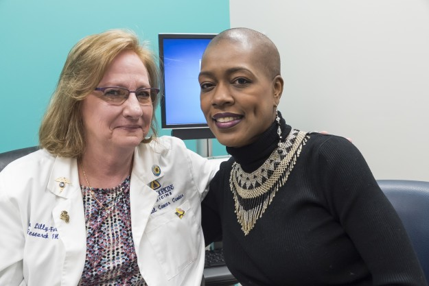 Research nurse Ellen Lilly-Foreman (left) with Trina Taylor (Isaac)